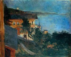Moonlight over Oslo Fjord  - Edvard Munch 1891