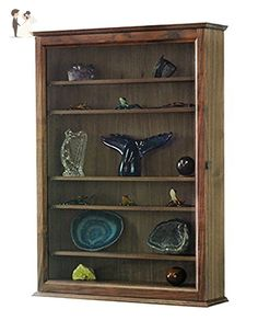 Curio Wall Cabinet- Solid Walnut Hardwood - Venue and reception decor (*Amazon Partner-Link)