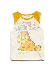 Have a nice day!                                                         Garfield Baseball Muscle Tee (Kids) #F21Girls