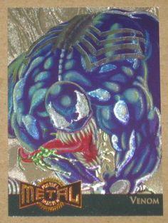 Marvel Metal (Fleer 1995) Gold Blaster Card #16 Venom EX-MT