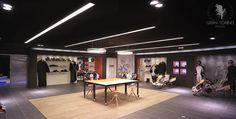 Racing gears items showroom. Sodikart headquarters at Nantes, France. Gran Torino Design 2014. #interiordesign