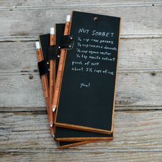 Trio of Chalkboard Tablets - low tech!