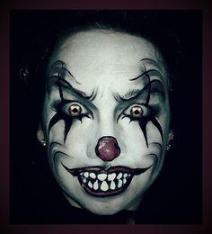 #halloween #scary clown by # Enchantedbrush www.enchanted-brush.co.uk #creepy #killerclown