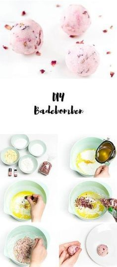 ➤ Make bath bombs yourself - a great DIY gift- ➤ Badebomben selber machen – ein tolles DIY Geschenk DIY Instructions: Bath bombs just made by yourself – with rose scent - Xmas Gifts, Diy Gifts, Diy Maquillage, Parfum Rose, Presents For Her, Easter Presents, Easy Diy Crafts, Toys Shop, Gifts For Teens