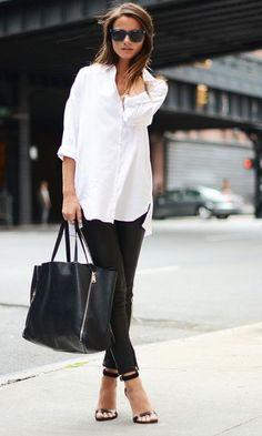 look trabalho- camisa branca