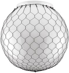Globe Shade with Wire Mesh
