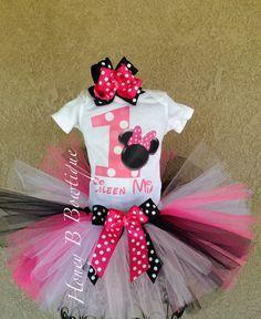 Minnie Mouse first birthday outfit $37.99 etsy.com