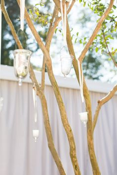 tree votive candles + romantic reception details @ivyrobinson @corbin