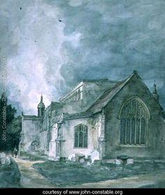 East Bergholt Church  Exterior - John Constable - www.john-constable.org