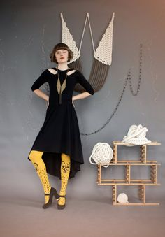 Ballerina CutOut Dress by emilyryan with Bouba tights by Les Queues de Sardines