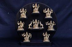 Ashta(Eight) Lakshmi Statues,12inches, Brass Eight Forms of Lakshmi Statue, Diwali Puja idol, Eight forms of Wealth, Ashtalakshmi Figurines by Shivajiarts on Etsy Lakshmi Statue, Kali Statue, Krishna Statue, Hare Krishna, Good Luck Gifts, Goth Home Decor, Nataraja, Dance Gifts, Goddess Lakshmi