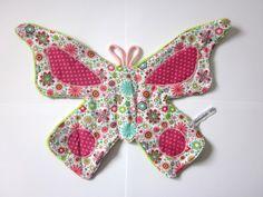 doudou papillons avec imprimé fleurs  de Nanalili sur DaWanda.com