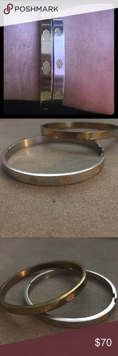 Number one seller! Stainless Hamsa Bangle! These unique bangles have been my obsession as well as our Customers and Celebrities alike! Come in Gold, Silver and Two Tone. All Stainless Steel, hypo allergenic and will NEVER tarnish! Hurry up- these are staples!!! Jewels by Dunn Jewelry Bracelets