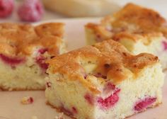 Raspberry & White Chocolate Tray Bake