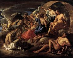 Helios and Phaeton with Saturn and the Four Seasons by Nicolas Poussin