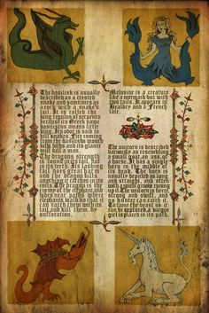 The medieval manuscript with a picture of MELUSINE