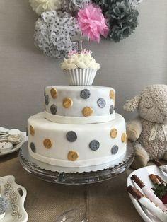 Polka Dot Baptism Cake on Cake Central