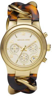 Michael Kors  Chain-Link Watch, Tortoise