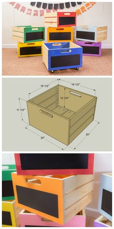 DIY Stackable Storage Crates :: Get the FREE PLANS for this project and many others at bui… Kids Woodworking Projects, Woodworking Furniture Plans, Woodworking School, Learn Woodworking, Popular Woodworking, Teds Woodworking, Wood Projects, Diy Furniture, Woodworking Machinery