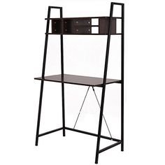Tangkula Ladder shelf with desk Leaning Bookcases Home of...