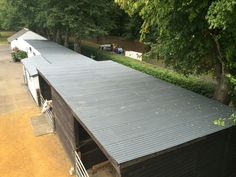 Completed Asbestos Stable roof after Watertight Coating has been applied www.blacksc.co.uk  #asbestos #horse #stableroof #stables #waterproofroof