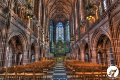 Inside the Anglican cathedral
