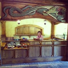 The Green Dragon pub, Hobbiton, New Zealand. I want a t-shirt!