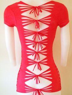 shirt trend T Shirt Cutting Ideas Sides Huwz DIY Cut Out T Shirt Cute Sporty Asymmetrical Top Love Maegan