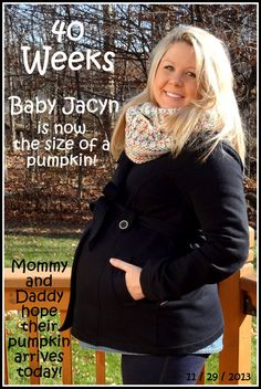 40 Weeks!! Today is the official due date!! Baby Blog