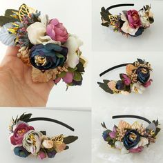 A headband, different options Floral Headpiece, Headpiece Wedding, Cabello Hair, Bridal Hair Accessories, Flower Crown, Hair Pieces, Hair Lengths, Headbands, Wedding Hairstyles