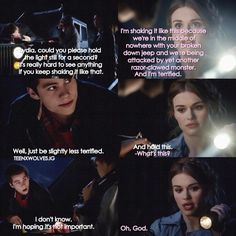 """S4 Ep1 """"The Dark Moon"""" - Lydia and Stiles"""