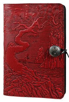 Leather Journal Cover | Diary | River Garden in Red
