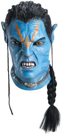 Avatar Jake Sully Deluxe Adult Mask includes one mask.It is from the movie Avatar.It can go perfectly with your Jake sully costume. the color may slightly vary. Costume Halloween, Latex Halloween Masks, Halloween Club, Halloween Masker, Trendy Halloween, Avatar Costumes, Pet Costumes, Adult Costumes, Avatar Film