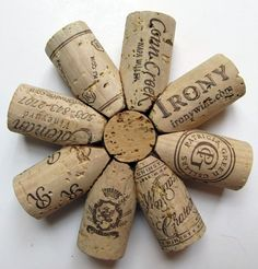 We've seen cork coasters before, but not like these. LOVE! Get your corks from us -- http://corks-n-crafts.com