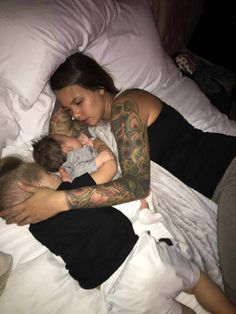 This dad gets co-sleeping, and more importantly, he gets MOTHERHOOD.