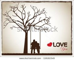 a couple on a swing under a tree as a sign of love by gst, via Shutterstock