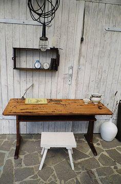 #loft #industrial #Vintage Schulbank / Schreibtisch  von Gerne Wieder auf DaWanda.com