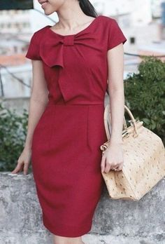 Cute burgundy dress