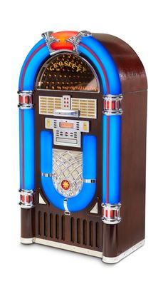 iJuke Deluxe Jukebox - There are just some things that will always be timeless. The jukebox is one of them. Based on a classic jukebox design, this ultimate entertainment companion is a treat for the eyes and ears. | US $1,495.00 on ( http://zocko.it/LyqJ )