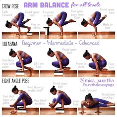 Easy Yoga Workout - Arm Balance for all levels Yoga tutorials for beginners & intermediates. Video available on IG @miss_sunitha #sunithalovesyoga Get your sexiest body ever without,crunches,cardio,or ever setting foot in a gym