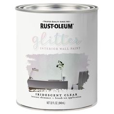 Rust-Oleum Glitter Interior Wall Paint creates a unique top coat, glitter finish over any latex wall paint. Use on walls and other hard surfaces to add multi-dimensional shimmer and sparkle. Provides an elegant shine and glittery shimmer without any mess. Rust Oleum Glitter, Glitter Grout, Glitter Spray Paint, Glitter Walls, How To Make Glitter Paint For Walls, Glitter Accent Wall, Metallic Paint Walls, Glitter Curtains, Glitter Eyeshadow