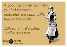 Coffee solves everything!