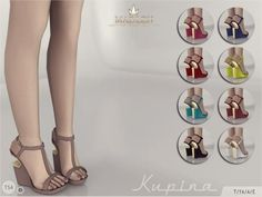 Madlen Kupina Shoes  New wedges for your sim! Come in 9 colours...      Madlen Kupina Shoes    New wedges for your sim! Come in 9 colours (leather texture). Joints are perfectly assigned. All LODs are replaced with new ones.  You cannot change the mesh, but feel free to recolour it as long as you add original link in the description.  If you can't see this creation in CAS, please update your game. If you're experiencing thumbnail problem, update your game (latest patch should solve t..