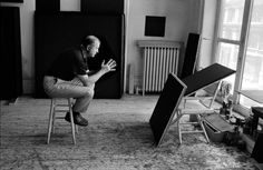 Ad Reinhardt by John Loengard, 1966. Portraits of the Artists: Painters and Sculptors by LIFE Photographers   LIFE.com