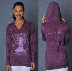 "om shanti ""live the joy"" hoodie for women #yoga #namaste #fitness http://www.omshanticlothing.com/store.php"