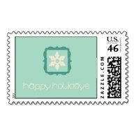 Happy Holidays Postage #christmas #mail #cards #greetings