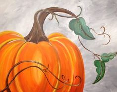 View our gallery of past paintings. Pumpkin Canvas Painting, Autumn Painting, Autumn Art, Diy Painting, Painting & Drawing, Canvas Art, Blank Canvas, Canvas Ideas, Halloween Canvas