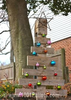 Pallet christmas tree #Christmas, #Pallets, #Tree