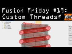 Fusion 360 Cut Sweep Custom Threads. Fusion Friday #19 - YouTube