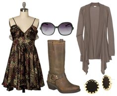 I have these boots and I adore them. Now I need this dress! <3